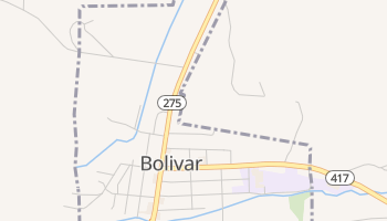 Bolivar, New York map