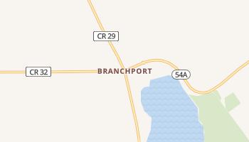 Branchport, New York map