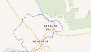 Brasher Falls, New York map