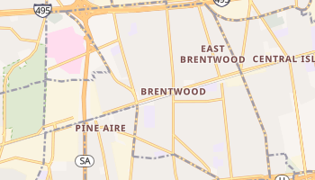 Brentwood, New York map