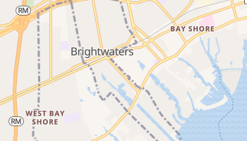 Brightwaters, New York map