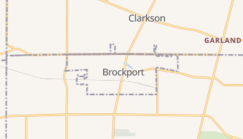 Brockport, New York map