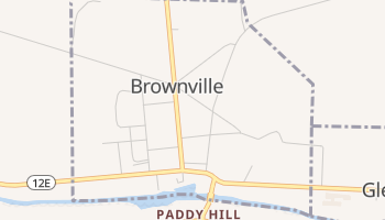 Brownville, New York map