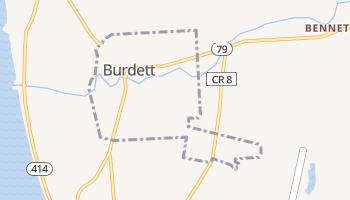Burdett, New York map