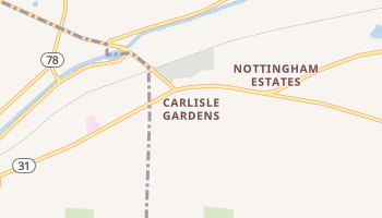 Carlisle Gardens, New York map