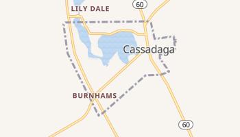 Cassadaga, New York map