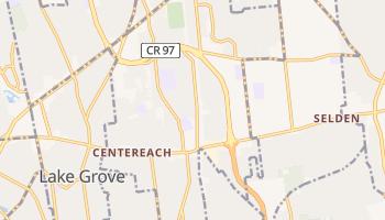 Centereach, New York map