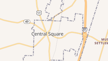 Central Square, New York map