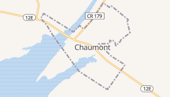 Chaumont, New York map