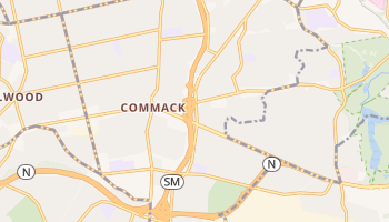 Commack, New York map