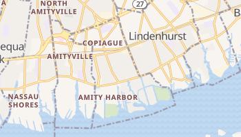 Copiague, New York map