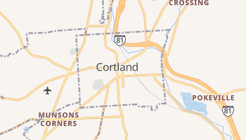 Cortland, New York map