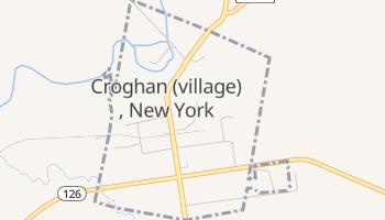 Croghan, New York map