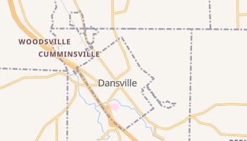 Dansville, New York map