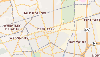 Deer Park, New York map