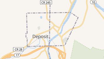Deposit, New York map