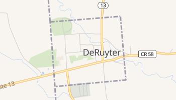 DeRuyter, New York map