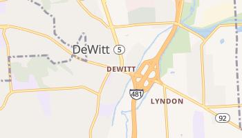 DeWitt, New York map