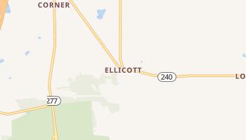 Ellicott, New York map