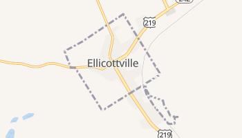 Ellicottville, New York map