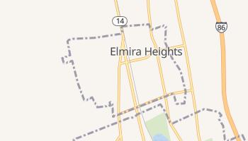 Elmira Heights, New York map