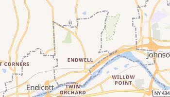 Endwell, New York map