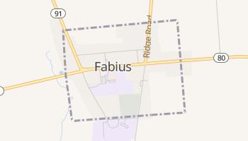 Fabius, New York map
