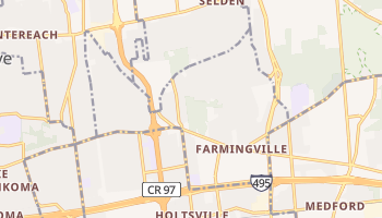 Farmingville, New York map