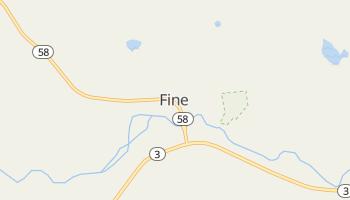 Fine, New York map