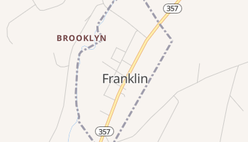 Franklin, New York map