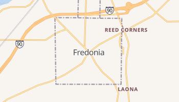 Fredonia, New York map