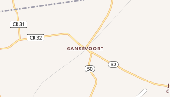 Gansevoort, New York map