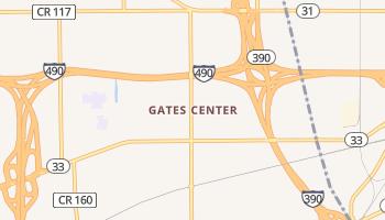Gates Center, New York map