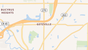 Getzville, New York map