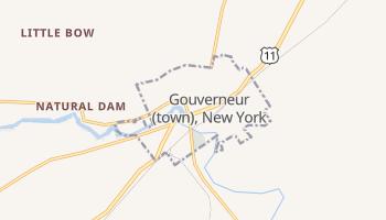Gouverneur, New York map