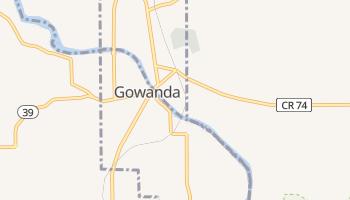 Gowanda, New York map