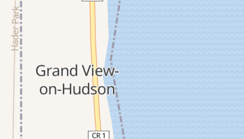 Grand View-on-Hudson, New York map