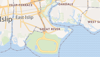 Great River, New York map