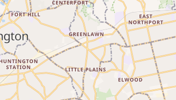 Greenlawn, New York map