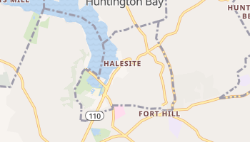 Halesite, New York map