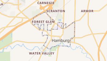 Hamburg, New York map