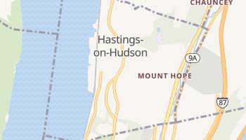 Hastings-on-Hudson, New York map