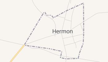 Hermon, New York map