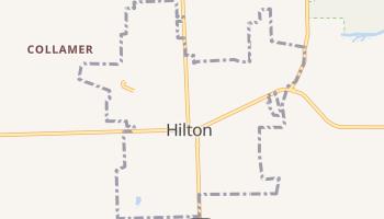 Hilton, New York map