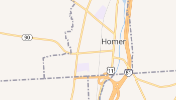 Homer, New York map