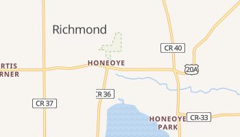 Honeoye, New York map