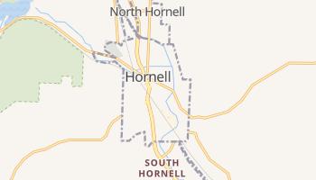 Hornell, New York map