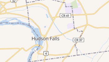 Hudson Falls, New York map