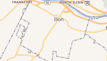 Ilion, New York map