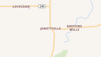 Jewettville, New York map